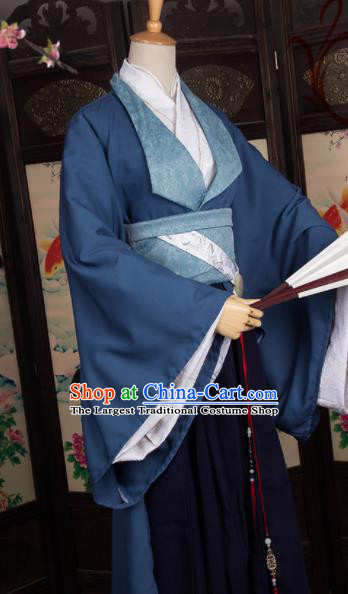 Chinese Traditional Prince Costumes Ancient Swordsman Clothing for Men