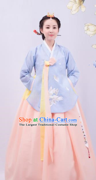 Asian Korean Traditional Wedding Costumes Embroidered Hanbok for Women