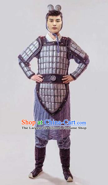 Chinese Traditional Cosplay Warrior Costumes Ancient General Swordsman Body Armour for Men