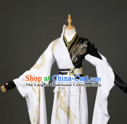 Traditional Chinese Cosplay Swordsman Hanfu Clothing Ancient Royal Highness Costume for Men