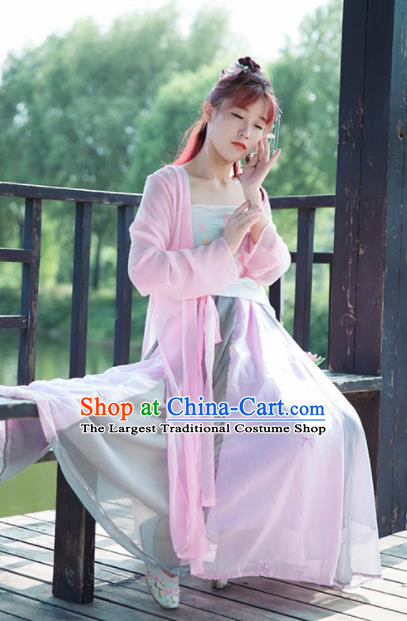 Traditional Chinese Cosplay Nobility Lady Hanfu Dress Ancient Peri Princess Costume for Women