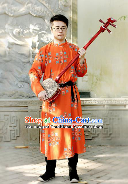Traditional Chinese Tang Dynasty Replica Costumes Ancient Imperial Bodyguard Round Collar Robe for Men