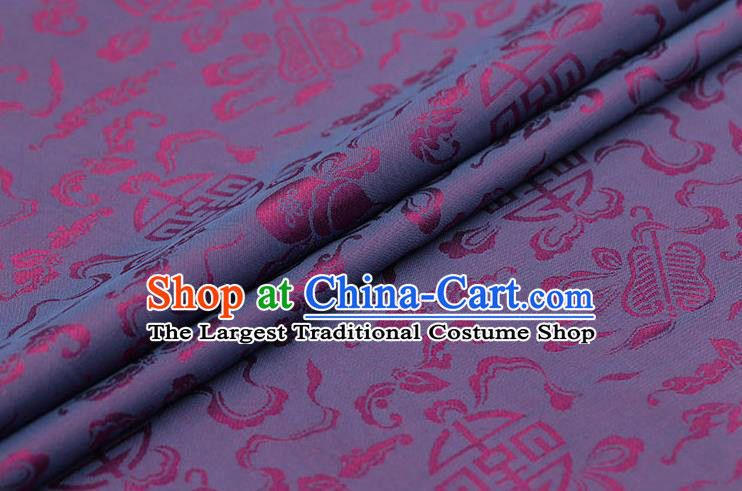 Traditional Chinese Amaranth Brocade Palace Cucurbit Ribbon Pattern Satin Plain Cheongsam Silk Drapery