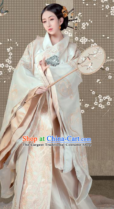 Chinese Ancient Queen Hanfu Dress Traditional Han Dynasty Empress Embroidered Costumes for Women