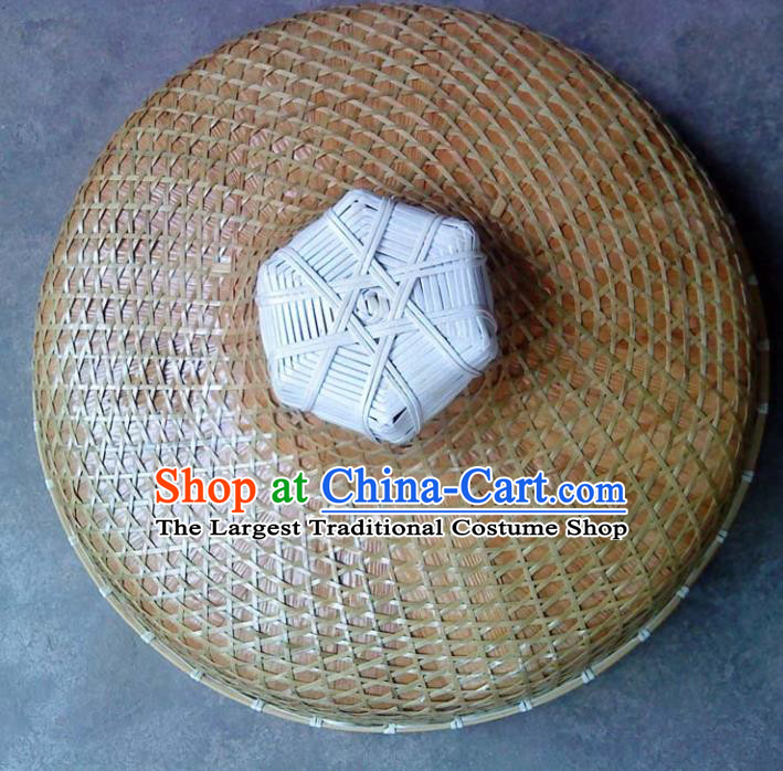 Chinese Traditional Handmade Craft Asian Bamboo Hat Straw Hat
