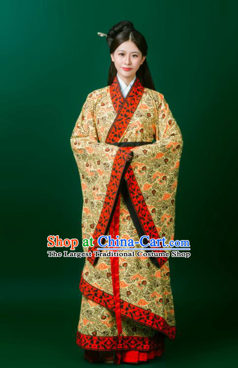 Ancient Chinese Embroidered Historical Costumes Traditional Han Dynasty Palace Princess Hanfu Dress for Women