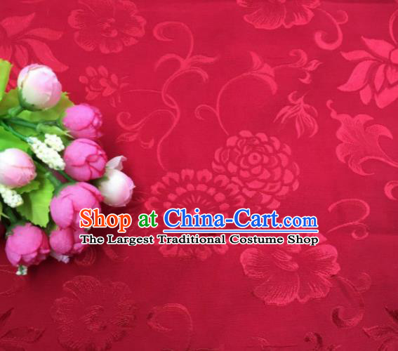 Chinese Traditional Apparel Fabric Red Qipao Brocade Classical Pattern Design Silk Material Satin Drapery