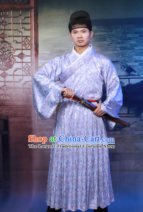 Chinese Ancient Swordsman Costumes Traditional Ming Dynasty Imperial Bodyguard Clothing for Men