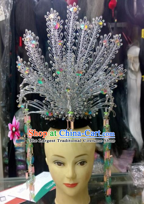 Chinese Classical Imperial Consort Hair Accessories Traditional Ancient Beijing Opera Phoenix Coronet for Women