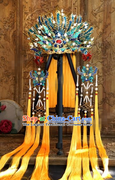 Chinese Ancient Wedding Hair Jewelry Accessories Palace Queen Phoenix Coronet Hairpins for Women