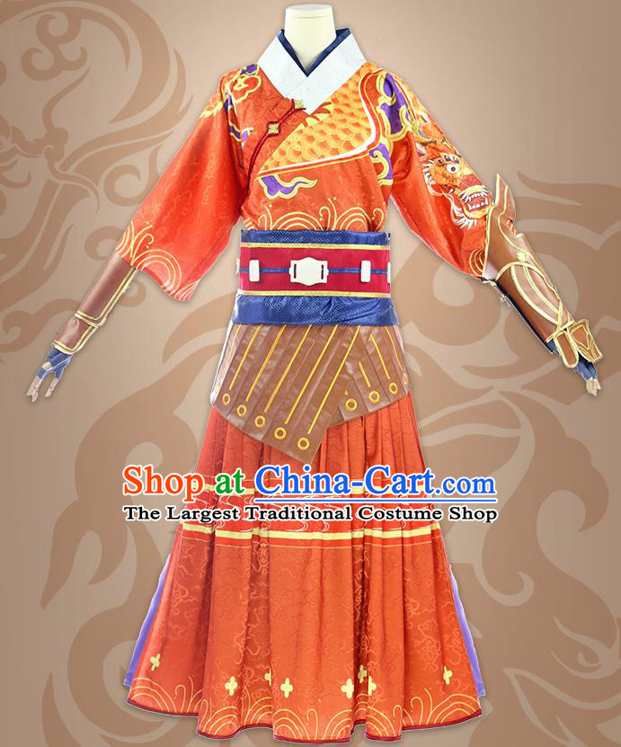 Chinese Traditional Cosplay Ming Dynasty Blades Costumes Ancient Swordsman Clothing for Men