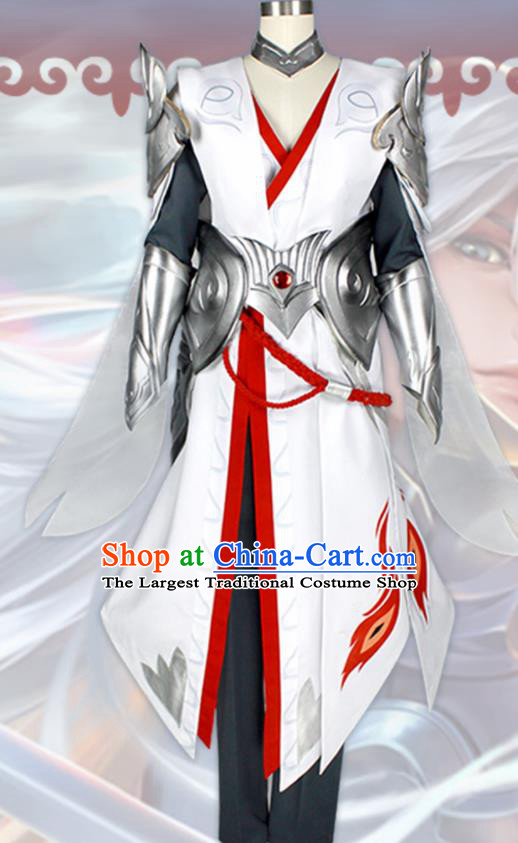 Chinese Traditional Cosplay Warrior Costumes Ancient Swordsman Clothing for Men