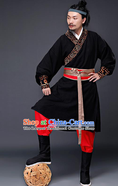 Traditional Chinese Song Dynasty Costumes Ancient Drama Swordsman Clothing for Men