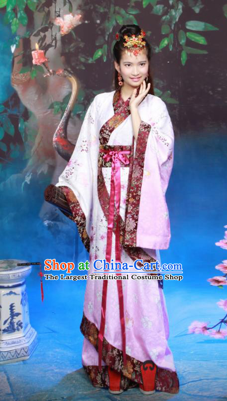 Chinese Traditional Han Dynasty Princess Historical Hanfu Dress Ancient Palace Lady Costumes for Women