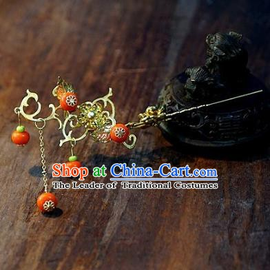 Chinese Handmade Classical Hairpins Tassel Hair Clip Hair Accessories Ancient Bride Headwear for Women