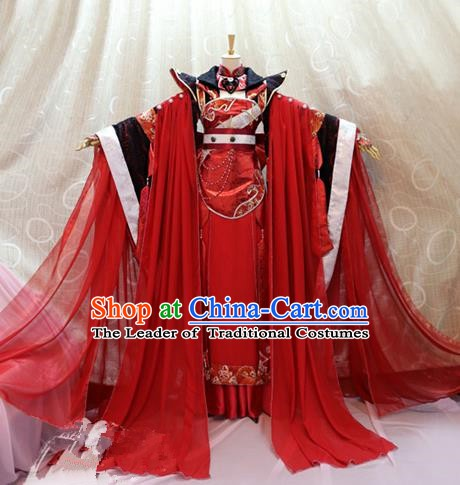 Traditional China Ancient Cosplay Princess Clothing Tang Dynasty Palace Wedding Costumes for Women