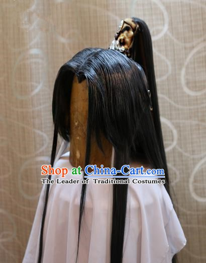 China Ancient Tang Dynasty Cosplay Swordsman Wig Hair Accessories Wiggery
