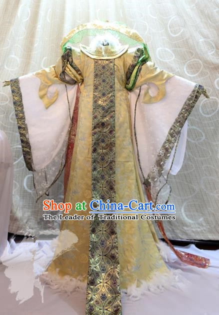 Ancient Chinese Costume hanfu Chinese Wedding Dress traditional china Cosplay Swordsman Wig Clothing