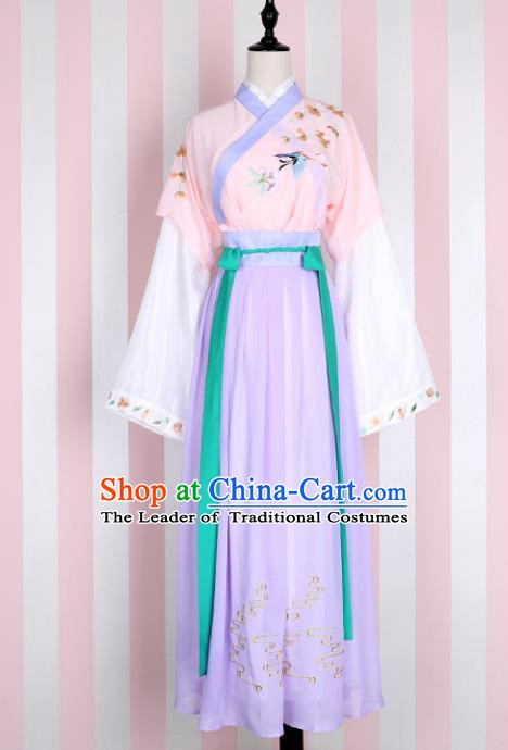 Ancient Chinese Song Dynasty Nobility Lady Embroidered Costume for Women