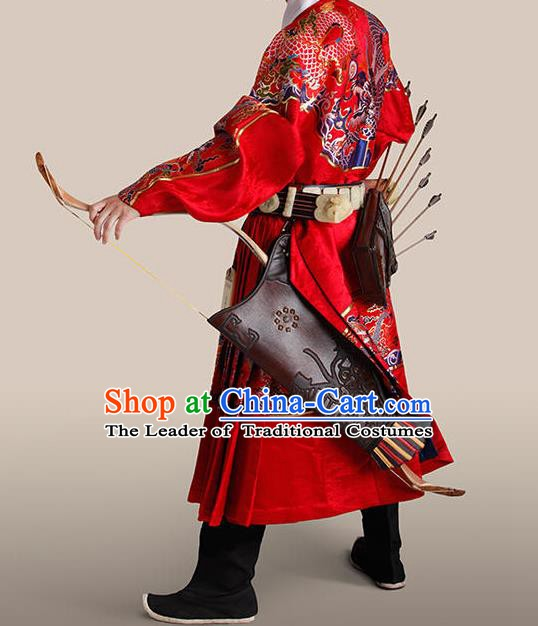 Ancient Chinese Ming Dynasty Imperial Bodyguard Swordsman Embroidered Costume for Men