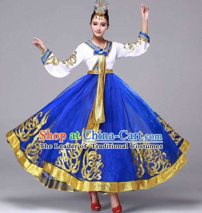 Traditional Korean Fashion Costume, Asian Hanbok Folk Dance Dress for Women