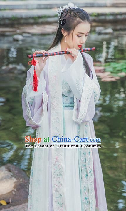 China Ancient Fairy Clothing Tang Dynasty Palace Princess Embroidered Costume for Women