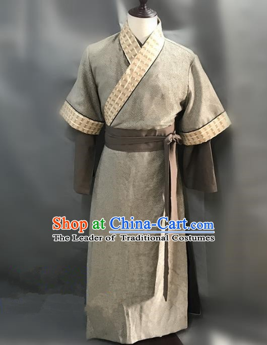 Traditional Chinese Stage Performance Knight Costume Ancient Song Dynasty Swordsman Clothing for Men