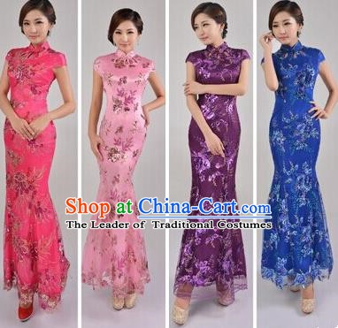 Traditional Chinese National Costume Republic of China Qipao Cheongsam Dress for Women