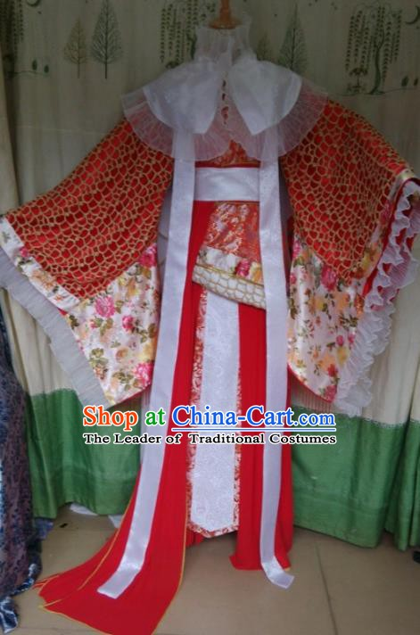 Traditional China Ancient Cosplay Palace Lady Wedding Costume Princess Hanfu Dress Clothing for Women
