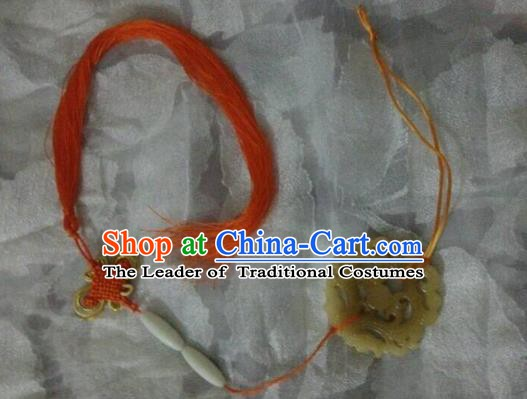 Traditional China Ancient Cosplay Swordsman Jade Pendant for Men