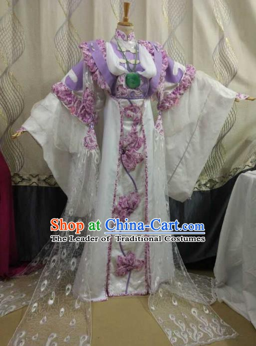 China Ancient Cosplay Swordswoman Costume Princess Fancy Dress Traditional Hanfu Clothing for Women
