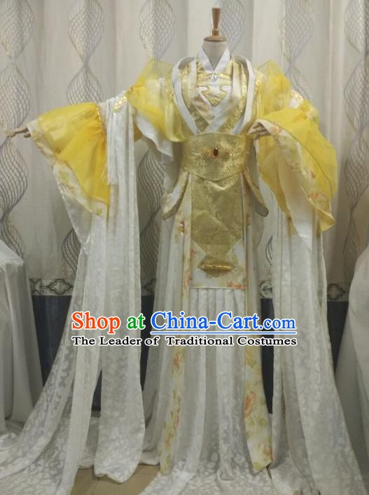 China Ancient Cosplay Palace Lady Costume Princess Fancy Dress Traditional Hanfu Clothing for Women