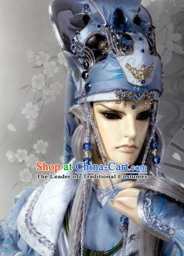 Traditional China Ancient Cosplay General Swordswoman Hair Accessories Hats for Men