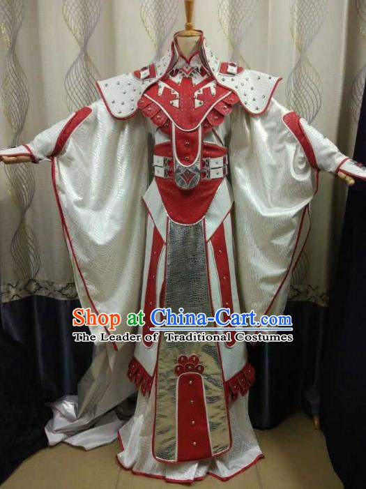 China Ancient Cosplay Swordsman General Costume Knight Fancy Dress for Men