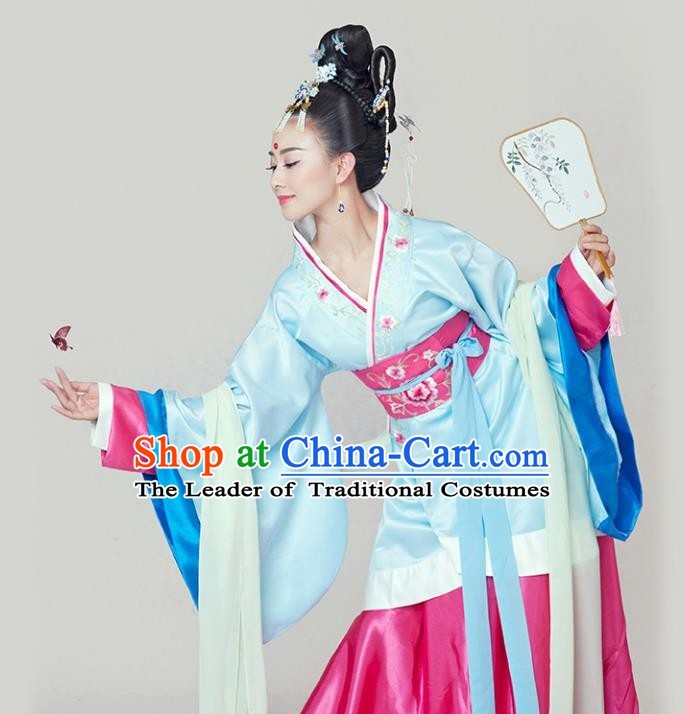 China Ancient Han Dynasty Palace Princess Costume Complete Set for Women