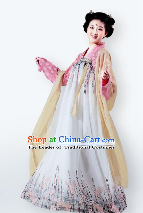 Traditional Chinese Tang Dynasty Nobility Lady Dress, China Ancient Princess Costume for Women
