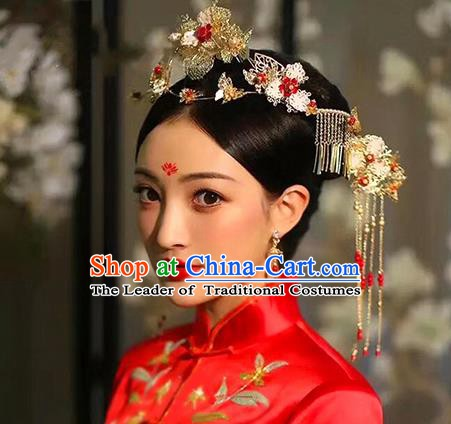 Chinese Handmade Classical Wedding Hair Accessories Ancient Phoenix Coronet Hairpins for Women