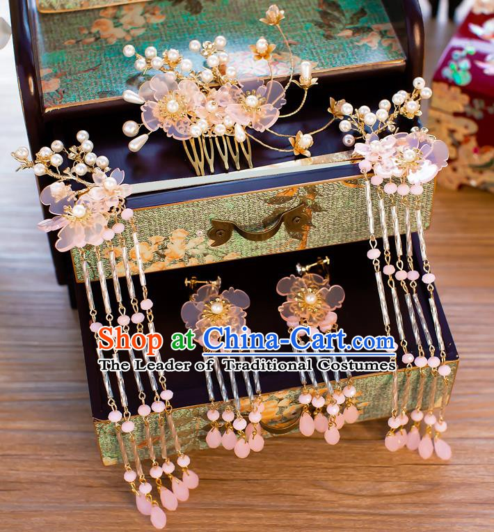 Chinese Handmade Classical Hair Accessories Ancient Hair Comb Hair Clip Hairpins for Women