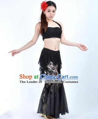 9d538ac85b9 Indian National Belly Dance Black Lace Suits Bollywood Oriental Dance  Costume for Women
