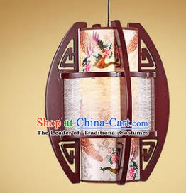 Traditional Chinese Handmade Painted Palace Lantern New Year Wood Hanging Lanterns Ancient Lamp