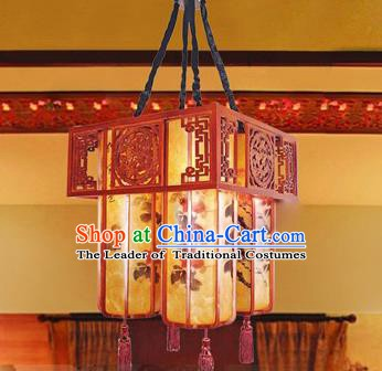 Traditional Chinese Parchment Palace Lantern Handmade Painted Hanging Lanterns Ancient Lamp