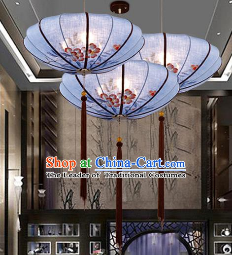 Traditional Chinese Painting Flowers Palace Lantern Handmade Hanging Lanterns Ancient Lamp
