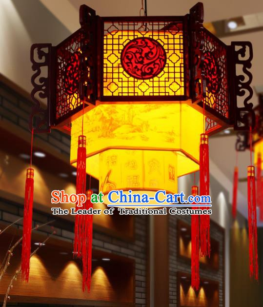 Traditional Chinese New Year Palace Lantern Handmade Hanging Lanterns Ancient Lamp