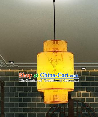 Traditional Chinese New Year Palace Lantern Handmade Painting Bamboo Hanging Lanterns Ancient Lamp