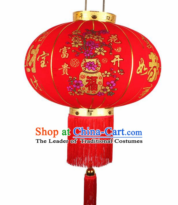 China Handmade New Year Painted Lanterns Traditional Chinese Red Wedding Palace Lantern Ancient Lanterns