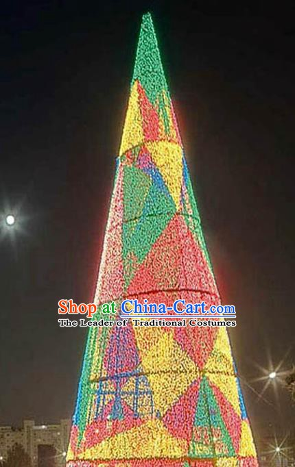 Handmade Colorful Shiny Christmas Tree Lights Lamplight Decorations LED Lamp Lanterns Bulb
