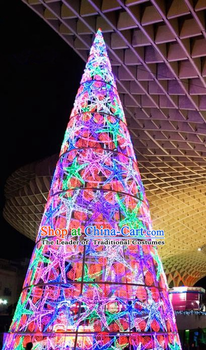 Traditional Handmade Christmas Light Show Shiny Decorations Large Christmas Tree Lamplight LED Lanterns