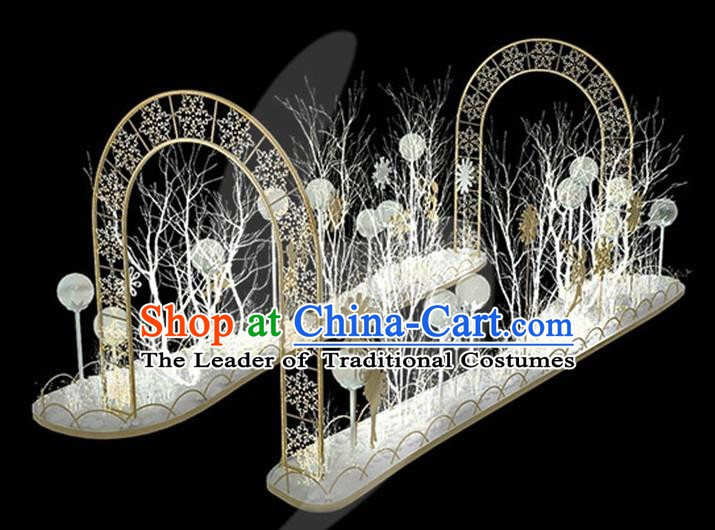 Traditional Handmade Christmas Lights Archway Stage Decorations Shiny Lamplight LED Lanterns