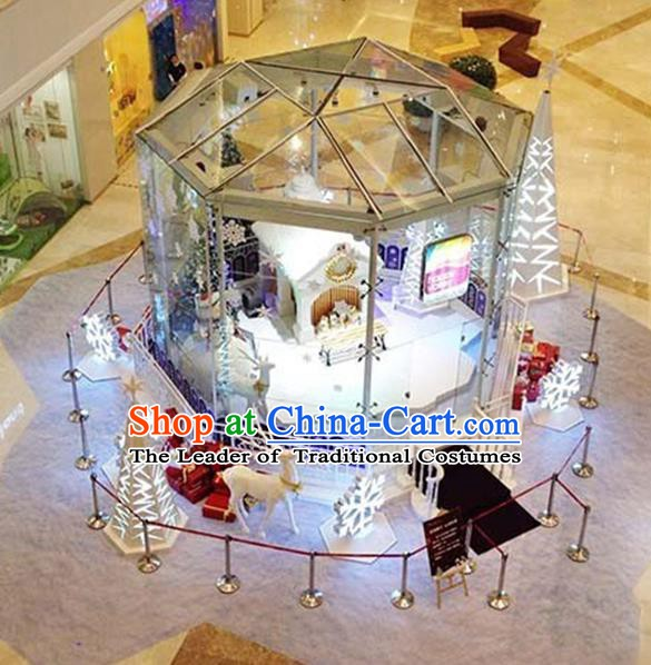 Traditional Handmade Christmas Lights Scene Display Stage Decorations Shiny Lamplight LED Lanterns