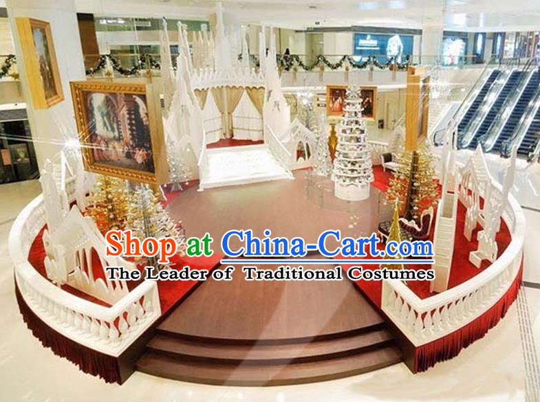 Traditional Handmade Christmas Stage Lights Scene Display Decorations Shiny Lamplight LED Lanterns